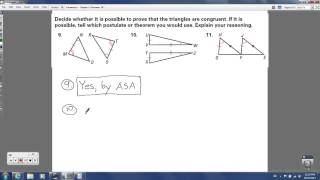 Geometry - Chapter 4 Review