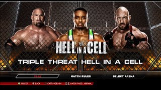 WWE 2K14: Big E Langston Vs Goldberg Vs Ryback HELL IN A