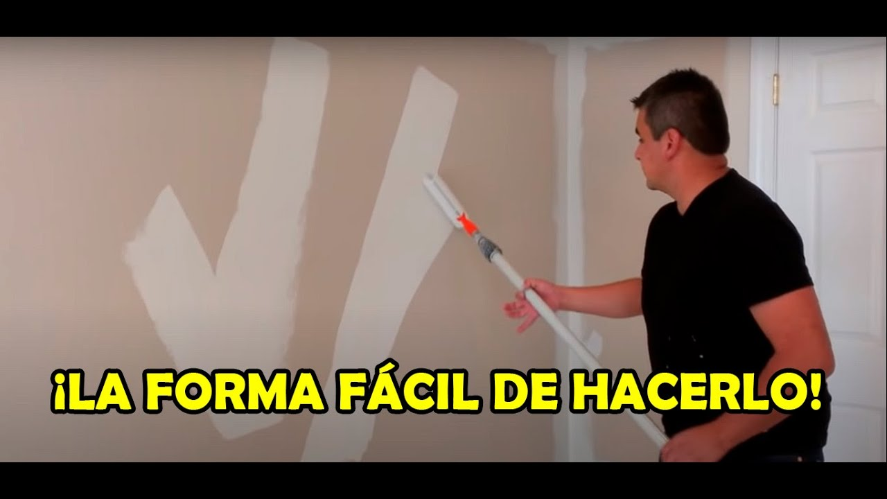 Como pintar una pared interior youtube - Pintar facil paredes ...