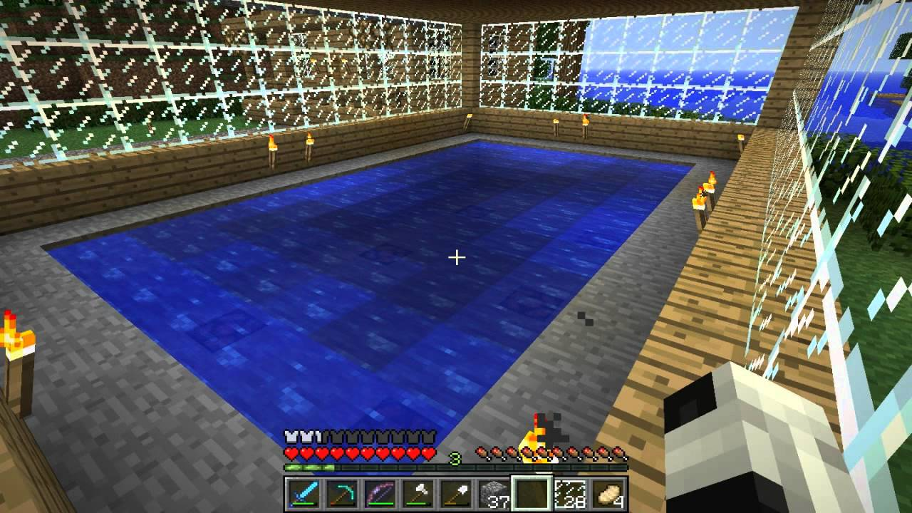 Minecraft Swiming Pool Design Youtube