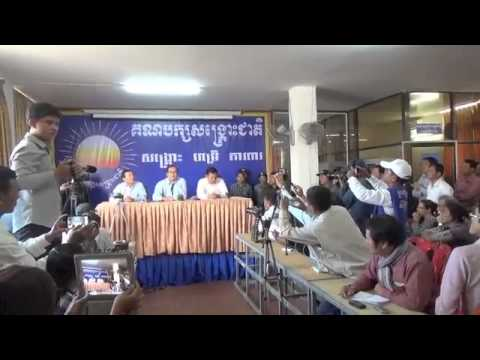 CNRP Press Conference on January 21, 2014 - Part1/3