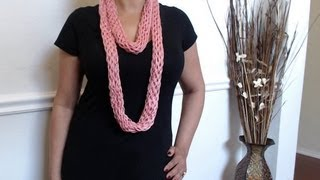 How To Make No Crochet Or Knit Scarf (just Yarn And
