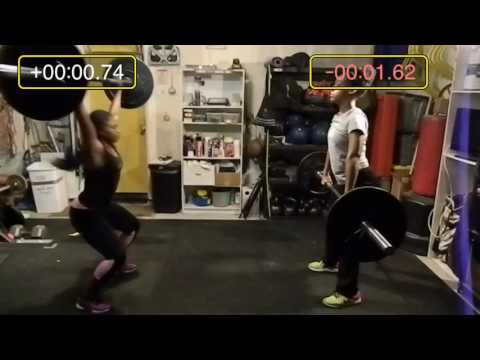 Power Snatch Bar Speed Comparison - Janelle & Jaz
