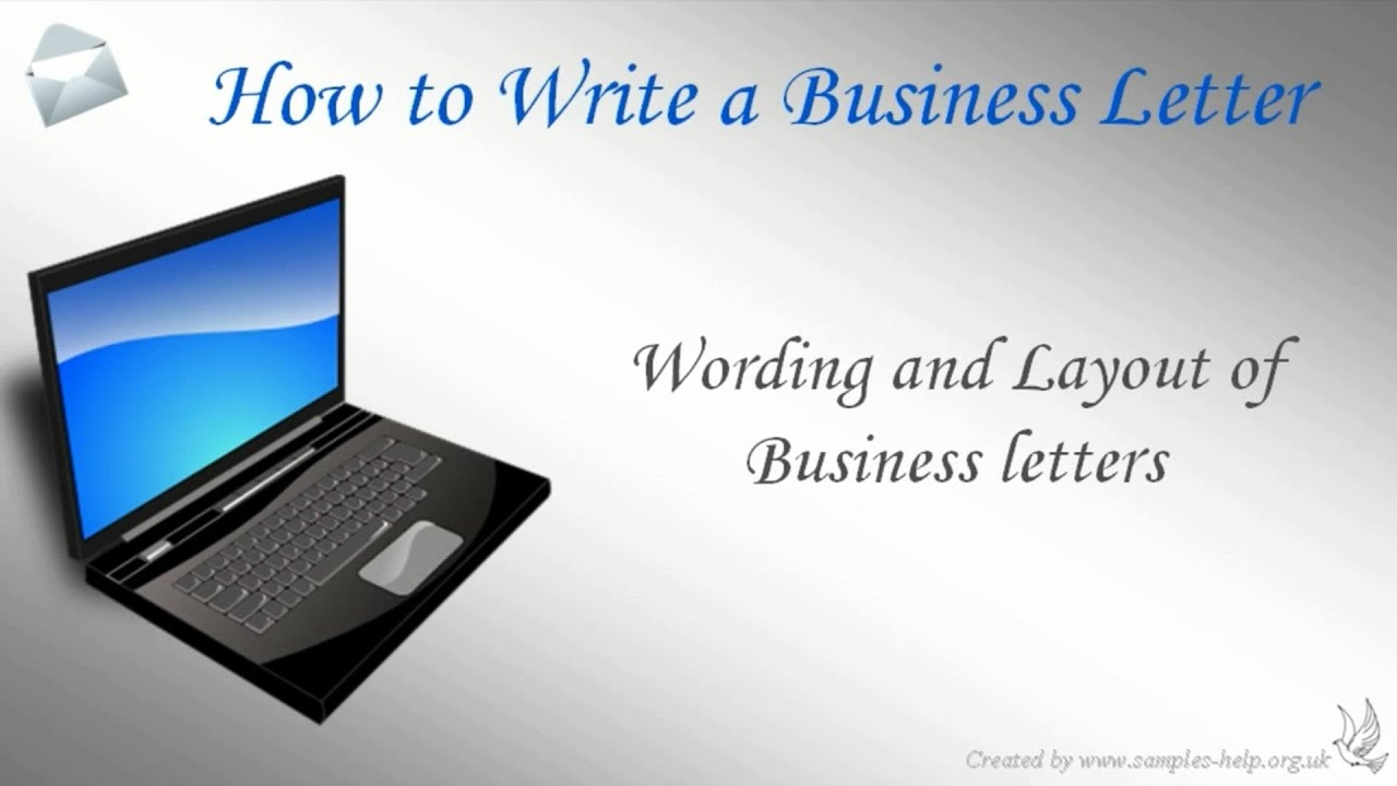 Business Letter Format Youtube