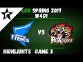 AFS vs ROX Highlights Game 3 LCK Spring W4D1 2017 Afreeca Freecs vs ROX Tigers