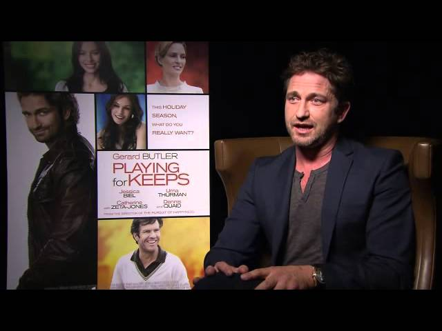 Gerard Butler In Toronto to promote Playing For Keeps
