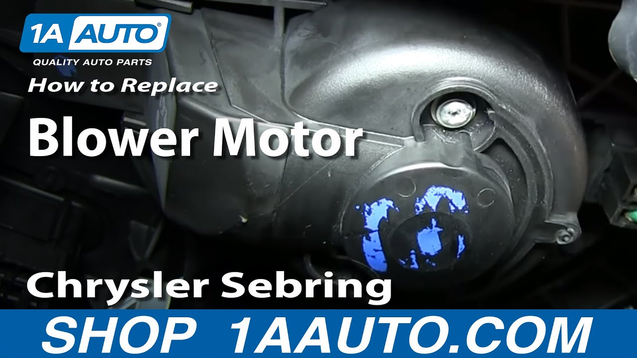 How To Install Replace Heater Ac Fan Blower Motor 2001 06