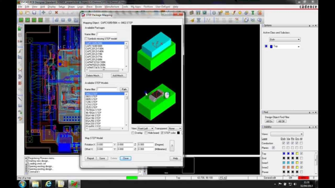 Orcad allegro tutorial step mapping 3d models youtube 3d model editor