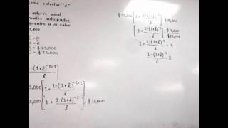 Cálculo de la tasa de interés