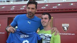 Si avvera a Torino il sogno di Julien con gli Azzurri e UEFA Foundation