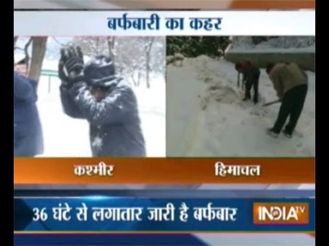 Watch heavy snowfall in Kashmir, Himachal