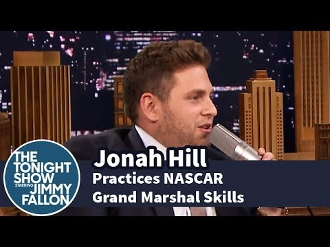 Jonah Hill Practices His NASCAR Grand Marshal Skills