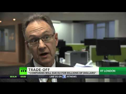 EU US historic trade deal 'Putting the corporation above the nation'