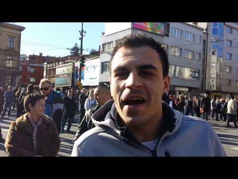 ▶ Sedin, a protester in Sarajevo speaking about the protest in Bosnia