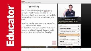 """Concrete Language""   Advanced English Grammar with Educator.com"