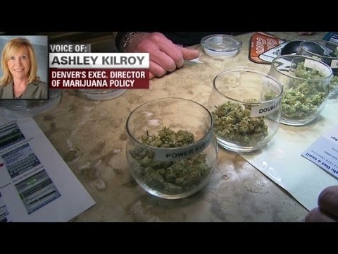 Crowds line up to buy legal pot in Colorado.