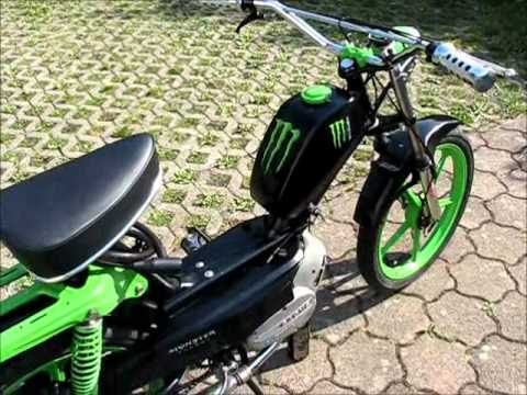 sachs 503 monster energy mofa youtube. Black Bedroom Furniture Sets. Home Design Ideas