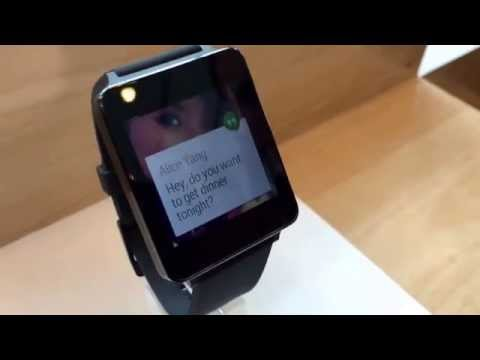 LG G Watch, hands-on at Google I/O 2014 (video)