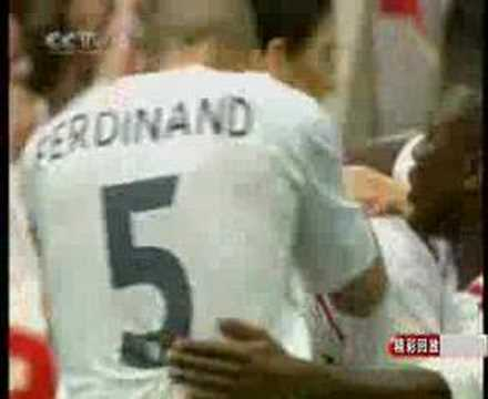 All goals of  England V Estonia(Euro 2008 qualifier)