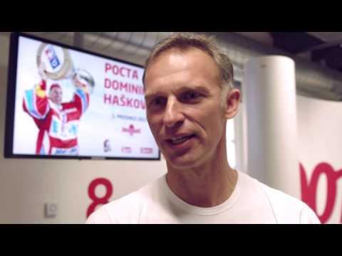 Dominik Hašek a jeho pozdrav Spartě