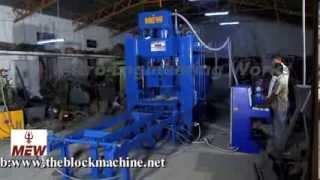 Automatic Concrete Hollow Bricks Paver Blocks Making