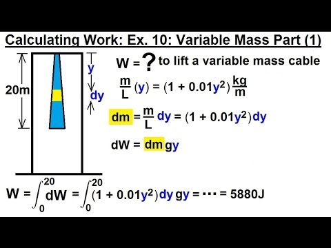 Calculus 2: Apllications - Calculating Work (11 of 16) Calculating Work Ex. 10: Variable Mass: 1
