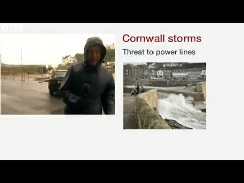 UK floods  Torrential rain hits storm battered Cornwall