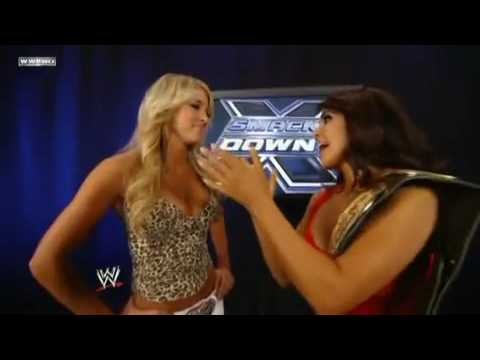 Kelly Kelly & Lay-Cool Backstage Segment WWE Smackdown 7/9/10