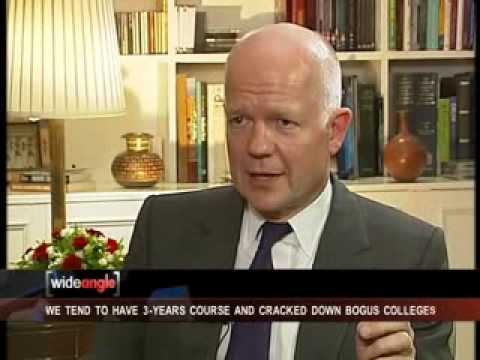 Exclusive interview with British Foreign Secy William Hague  (Part-1)