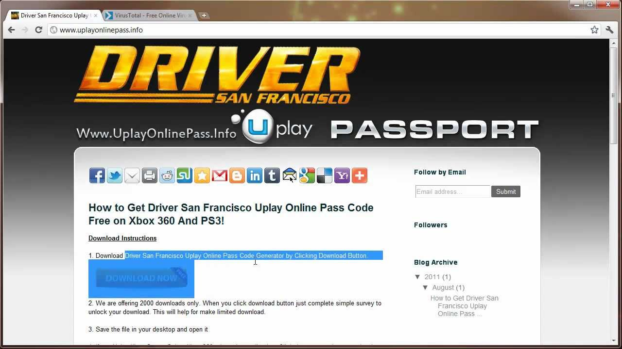 driver san francisco uplay online pass code leaked free. Black Bedroom Furniture Sets. Home Design Ideas