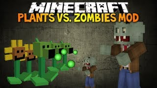 Minecraft: PLANTS VS ZOMBIES MOD! Plant Your Own Zombie