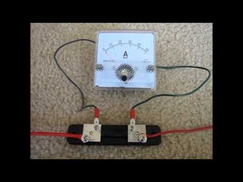 wire  ammeter  shunt youtube