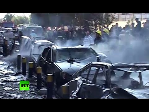 First footage: Aftermath as powerful blasts rock Iranian embassy in Beirut