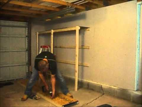 how to build garage shelves cheaply normalguydiy youtube. Black Bedroom Furniture Sets. Home Design Ideas