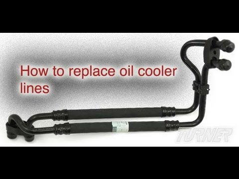 How to replace an oil cooler line  YouTube