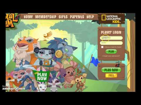 Username and Password to a animal jam account