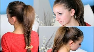 💗 How To Make A Fluffy Fishtail Braid Zendaya's