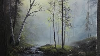 Paint With Kevin Hill Glistening Forest Creek