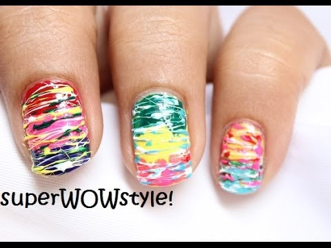 Sugar - No tools Nail Art For Beginners! *Using Toothpick* - YouTube