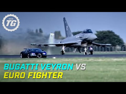 Top Gear : Bugatti Veyron vs Euro Fighter