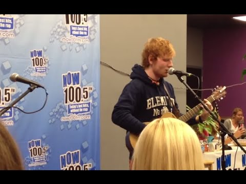 """Ed Sheeran sings """"Baby One More Time"""" by Britney Spears, NOW 100.5 FM in Sacramento"""