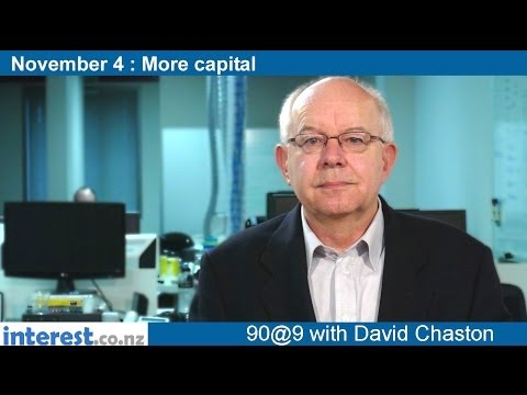 90 seconds at 9 am: More capital (news with David Chaston)