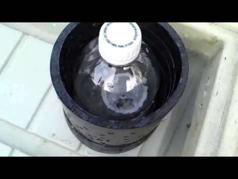 1 liter bottle used as a bell siphon