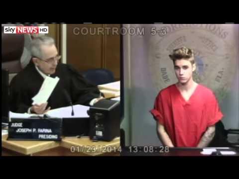Justin Bieber Bail Hearing