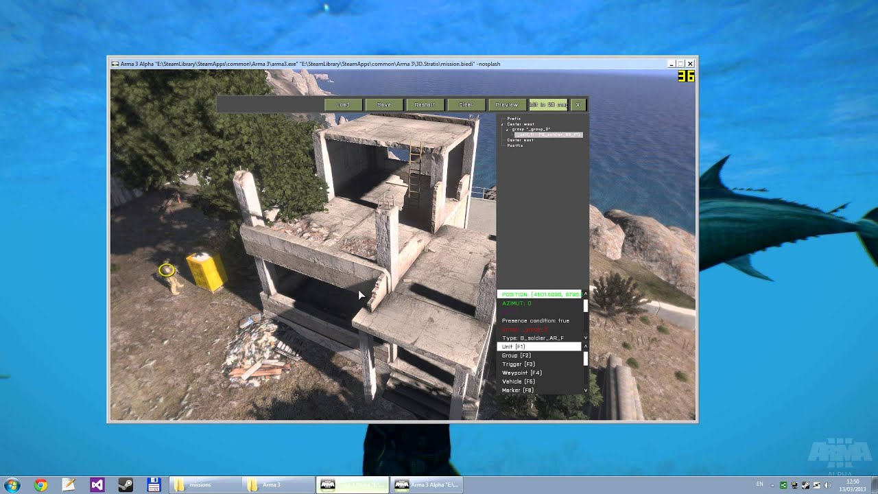Arma 3 alpha how to access the 3d editor youtube 3d editor