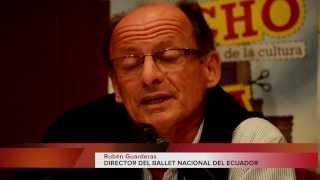 Rubén Guarderas, Director del Ballet Nacional invita a la fiesta de la Cultura