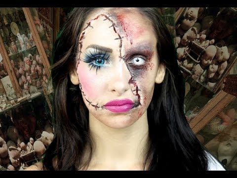 Horror Doll - A Scary Halloween makeup tutorial