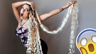 "TAKING OUT MY 82"" HAIR EXTENSIONS!!!"