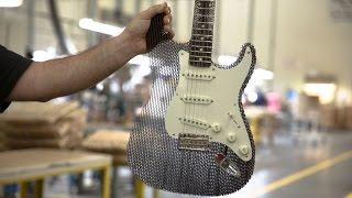 Fender Guitar Made From Cardboard