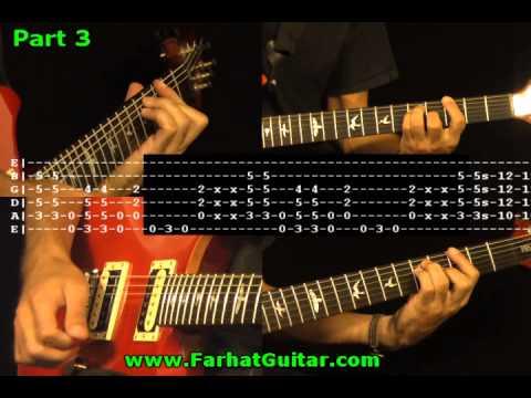 Simple Man - Lynyrd Skynyrd Guitar Cover & Tabs Part 3/5 FarhatGuitar.com